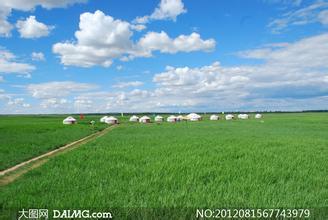 坝上草原的蒙古包